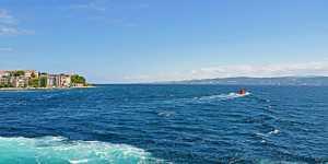 Пролив Дарданеллы в Турции закрыт для судоходства из-за лесного пожара